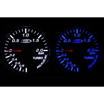 PRO RACING GAUGE 52mm  - TURBO Kék&FEHÉR (Mechanikus)